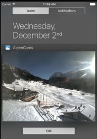 Webcam weather/snow widgets for iOS and Android